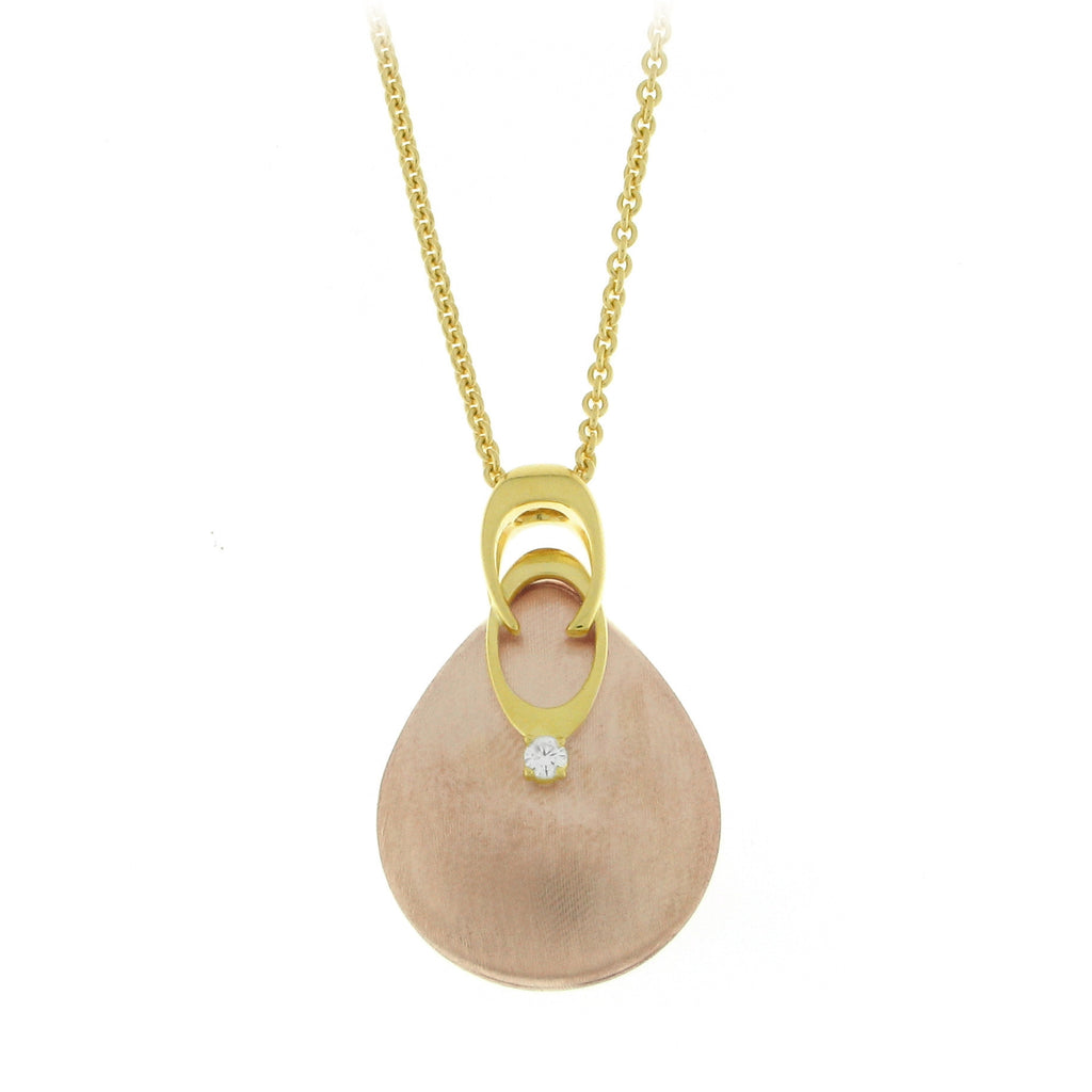 Chimento Griffe 18ct Yellow Rose Gold 0.05ct Diamond Necklace D