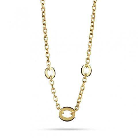 Chimento Luna 18ct Yellow Gold Oval Link Necklace D