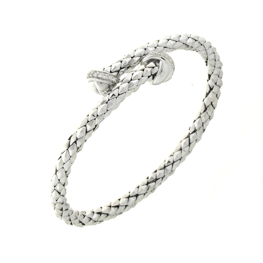 Chimento Stretch 18ct White Gold 0.20ct Diamond Bracelet D