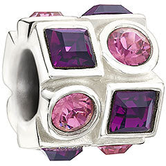 Chamilia Charm Circle & Square Pink & Purple