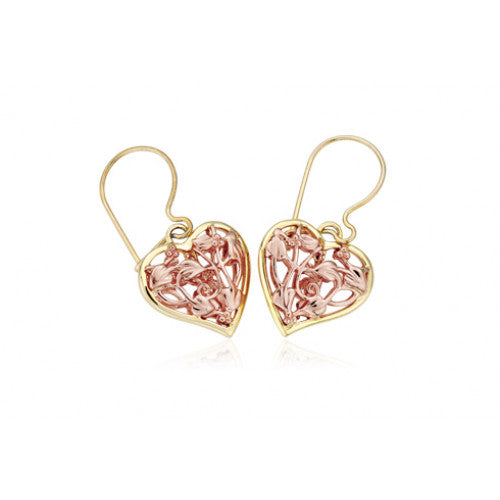 Clogau 9ct Rose and Yellow Gold Fairy Drop Earrings D