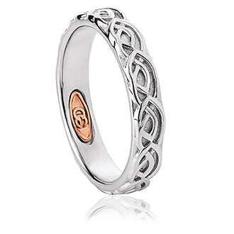 Clogau Annwyl Sterling Silver 4mm Wedding Band, 3SCWED4.