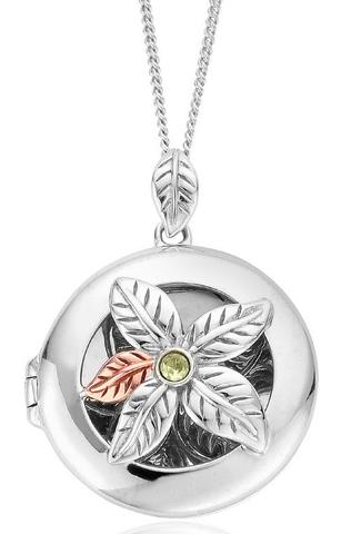 Clogau Awelon Sterling Silver Peridot Locket