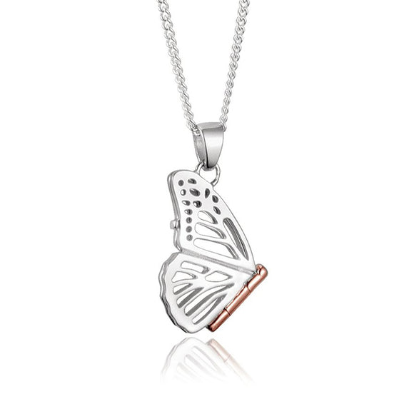 Clogau Butterfly Sterling Silver Small Locket, 3SBWP.