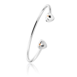Clogau Cariad Sterling Silver Medium Bangle. 3SCBBGM.