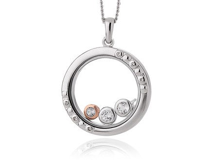 Clogau Celebration Sterling Silver Topaz Inner Charm Necklace, 3SICLP10.