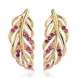 Clogau Debutante 9ct Yellow Gold Pink Tourmaline Stud Earrings, DBPFE.