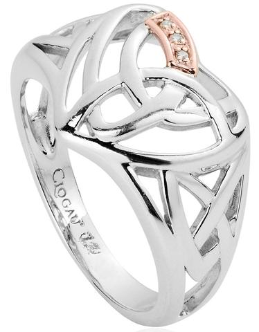 Clogau Eternal Love Sterling Silver Diamond Heart Ring O