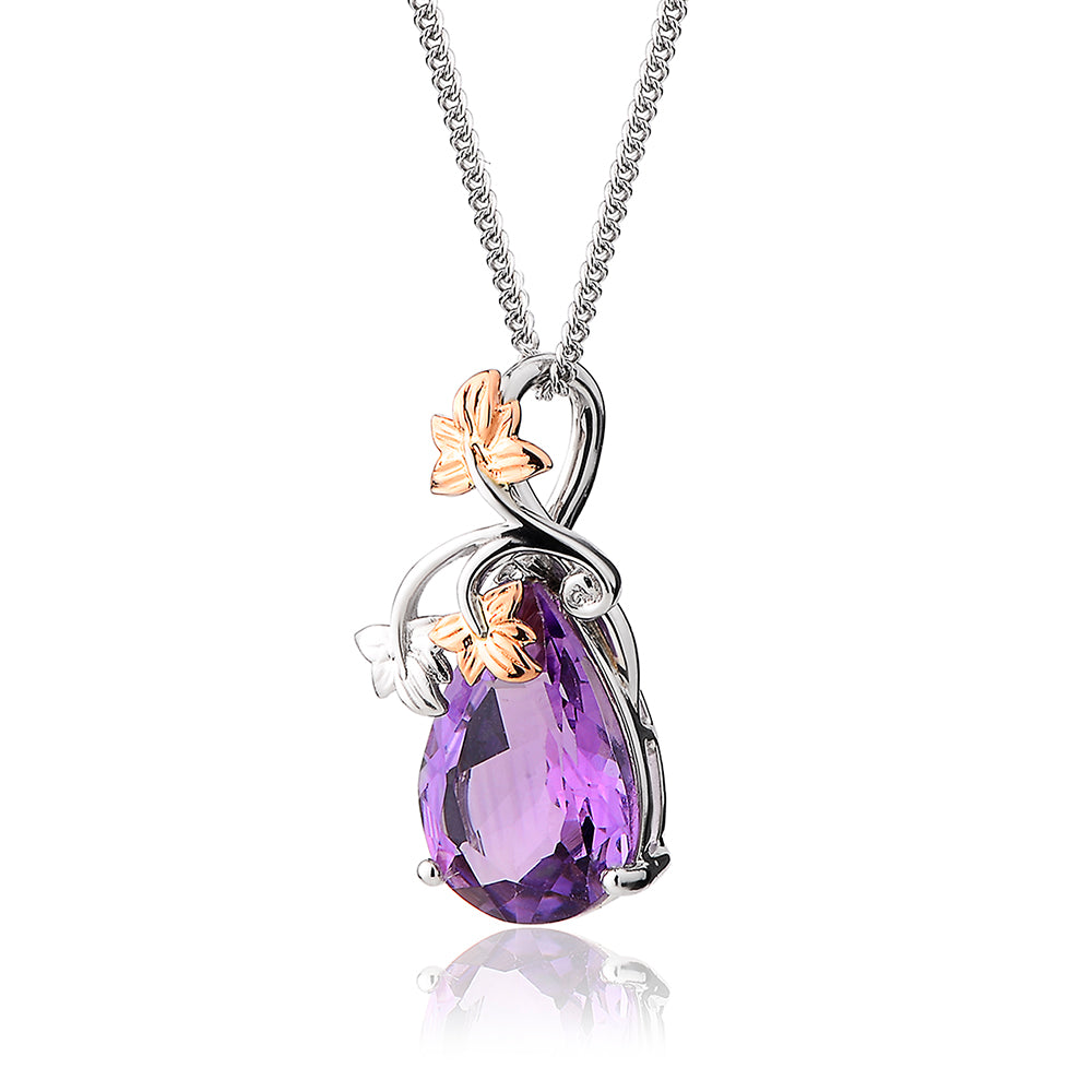 Clogau Great Vine 18ct Gold Amethyst Necklace