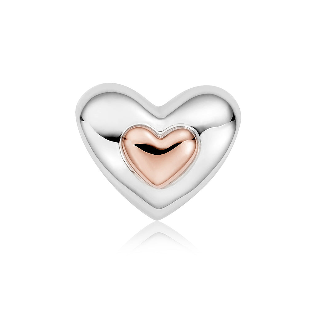 Clogau Heart Sterling Silver Bead Charm