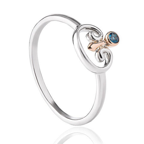Clogau Kensington Palace Blue Topaz Silver Ring