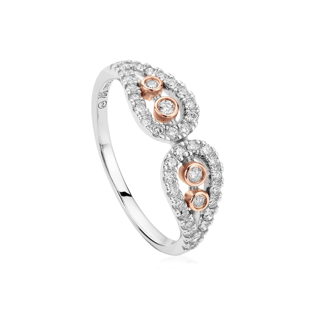Clogau Royal Crown 18ct Gold and Diamond Ring