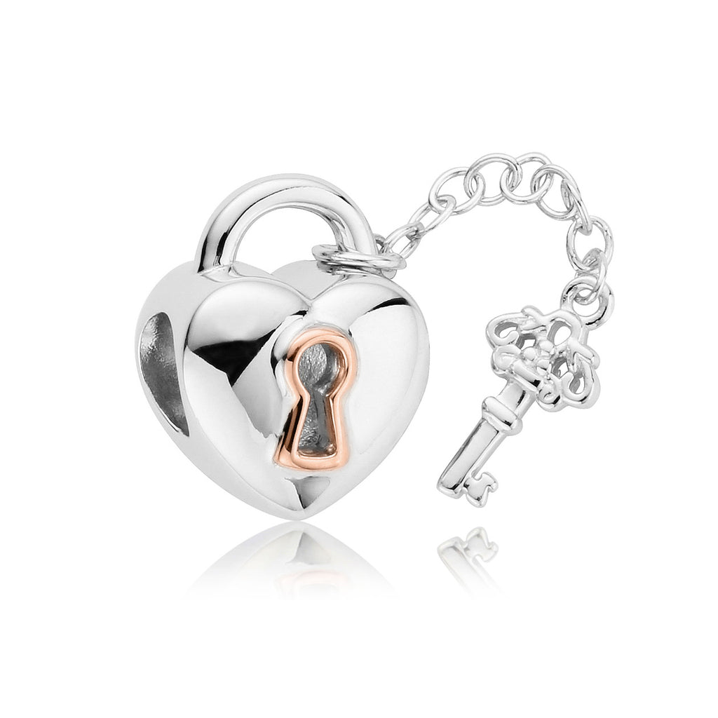 Clogau Secret Garden Key Silver Charm