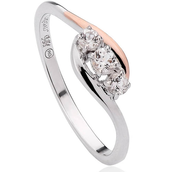 Clogau Spirit Sterling Silver White Topaz Ring, 3SOCR.