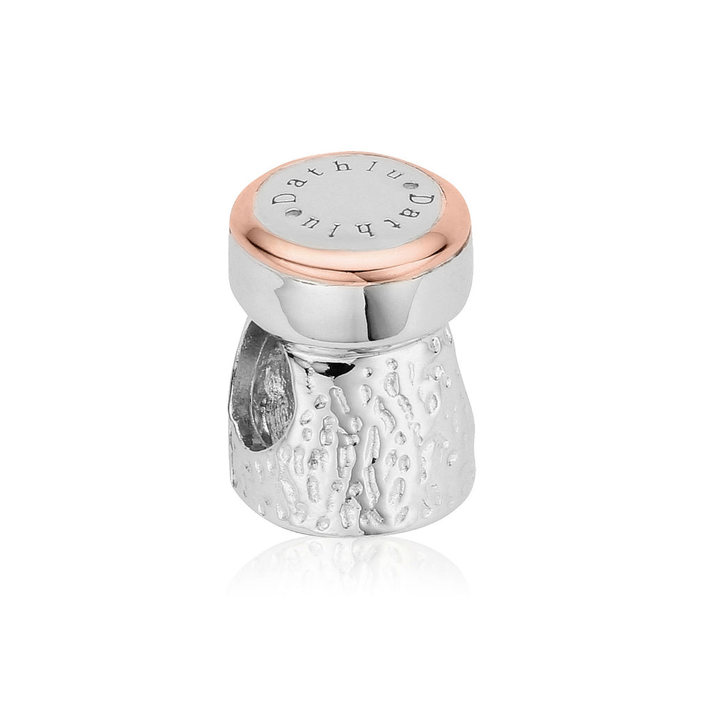 Clogau Sterling Silver Champagne Cork Charm