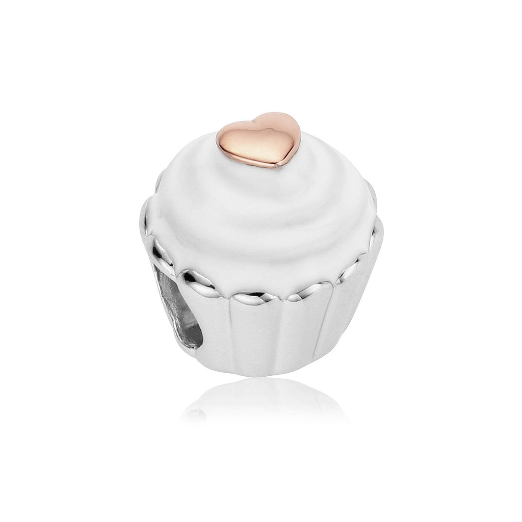 Clogau Sterling Silver Cupcake Bead Charm