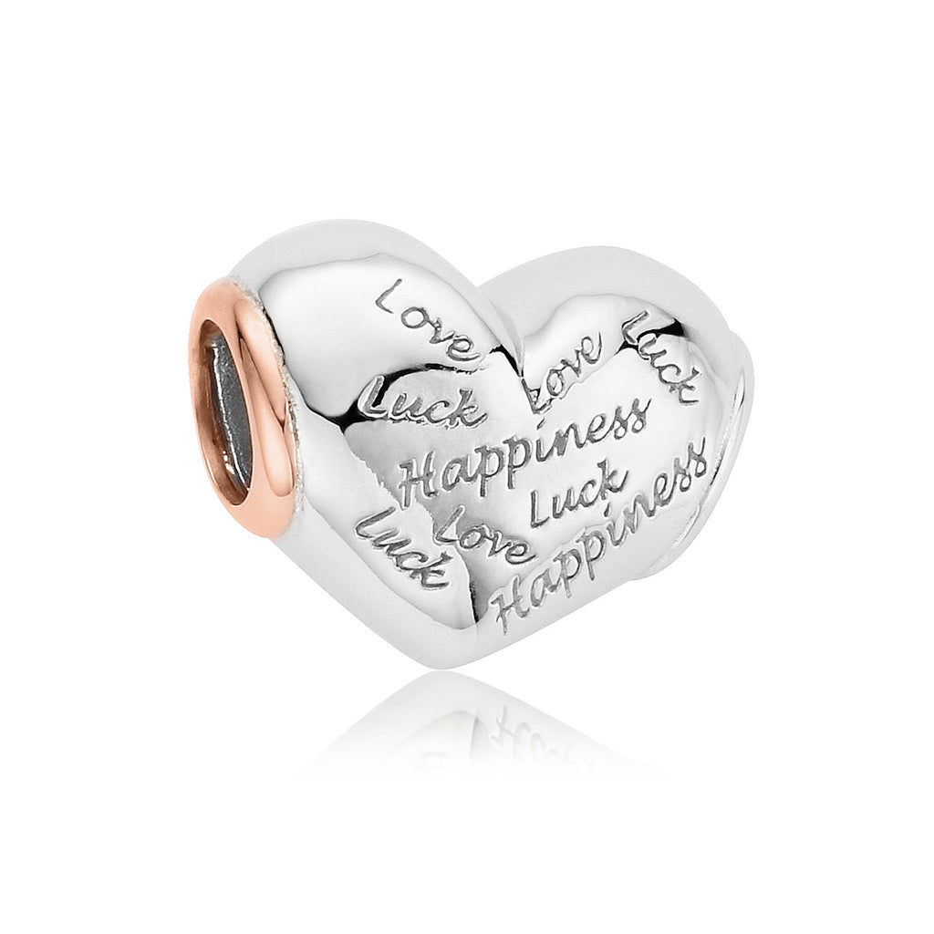Clogau Sterling Silver Love Luck And Happiness Bead Charm
