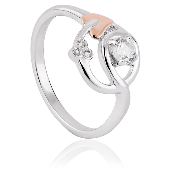 Clogau Tree Of Life Sterling Silver White Topaz Origin Ring, 3SENGTOL6.