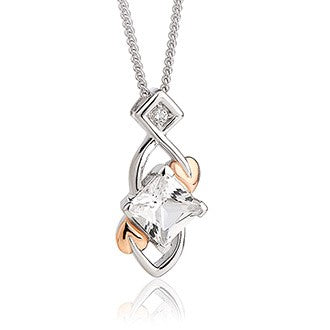 Clogau Tree of Life Sterling Silver White Topaz Necklace