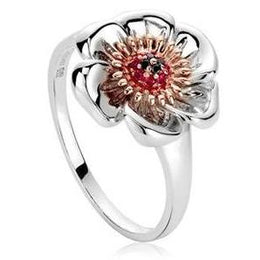 Clogau Welsh Poppy Sterling Silver Ring. 3SWPR1.