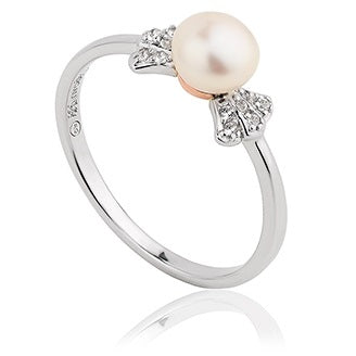 Clogau Windsor Sterling Silver Pearl Ring 3SWNPR