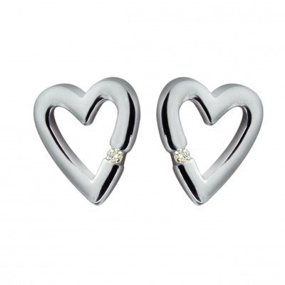 Hot Diamonds EarringsJust Add Love Head Over Heels Silver