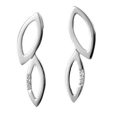 Hot Diamonds Earrings Simply Sparkle Multi Leaf Silver