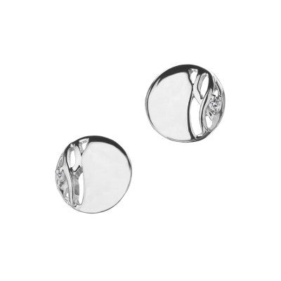 Hot Diamonds Earrings Arabesque Eclipse Disc Silver D
