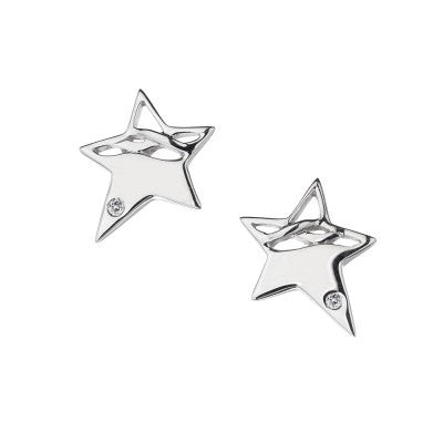 Hot Diamonds Earrings Arabesque Eclipse Star Silver