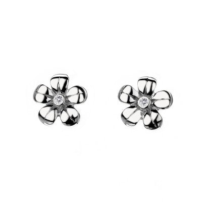 Hot Diamonds Earrings Paradise Petal Stud Silver D