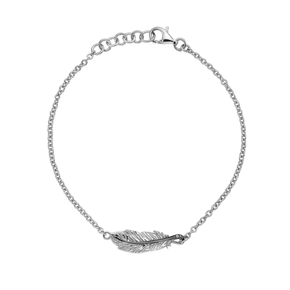 Hot Diamonds Bracelet Feather Silver