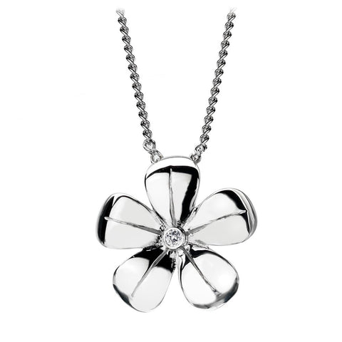Hot Diamonds Necklace Paradise 5 Petal Silver D