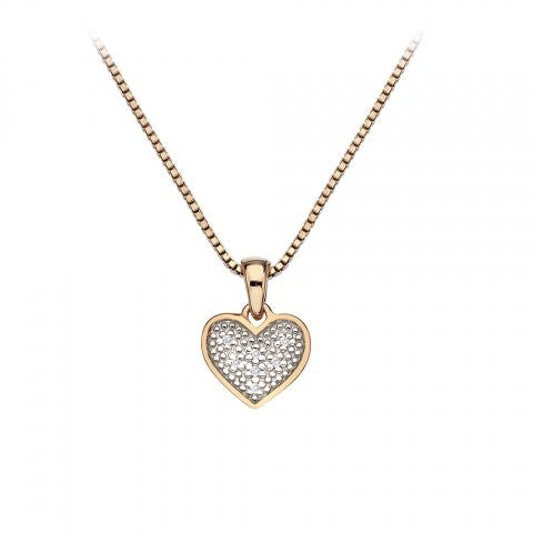 Hot Diamonds Necklace Stargazer Heart Rose Gold