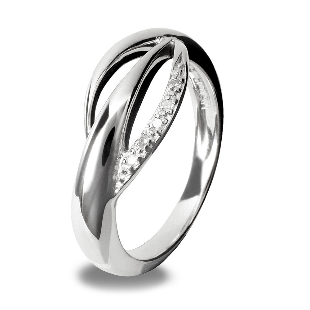 Hot Diamonds Ring Simply Sparkle Wing Silver D