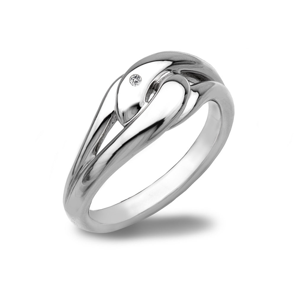Hot Diamonds Ring Go With The Flow Capture Me Silver D