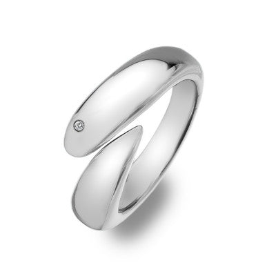 Hot Diamonds Ring Silver Aqua D