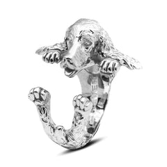 Dog Fever Sterling Silver English Cocker Spaniel Hug Ring