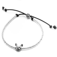 Dog Fever Sterling Silver French Bulldog Muzzle Bracelet