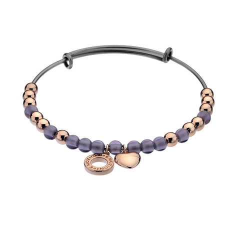 Emozioni Rose Gold Plated Purple Bracelet