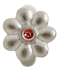 Endless Jewellery Sterling Silver Garnet Dream Flower Charm D
