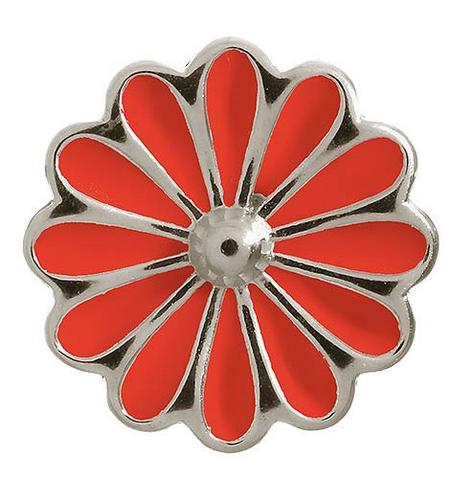 Endless Jewellery Sterling Silver Red Enamel Daisy Charm D