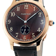 Faberge Agathon Small Seconds Rose Gold and Hazel Dial 115WA204/1