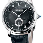 Faberge Agathon Small Seconds White Gold and Black Dial 115WA209/1