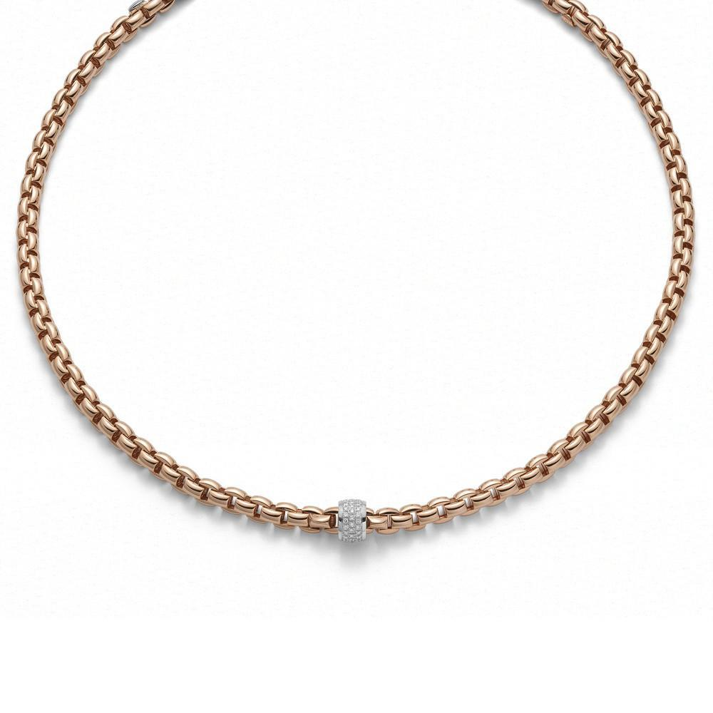 Fope 18ct Rose Gold 0.53ct Diamond Flex'It Eka Necklace