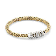 Fope Flex'it Solo 18ct Yellow Gold 0.50ct Diamond Bracelet, 657B/BBR.