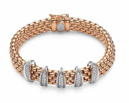 Fope Lavinia 18ct Rose Gold 0.48ct Diamond Bracelet