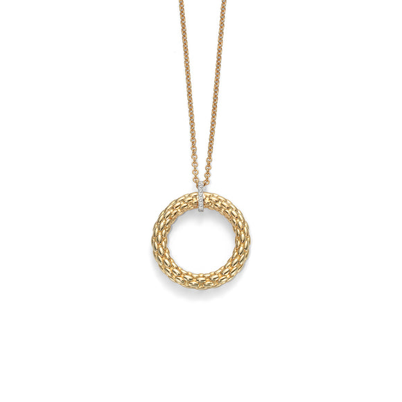 Fope Lovely Daisy 18ct Yellow Gold Diamond Necklace, 23C BBR