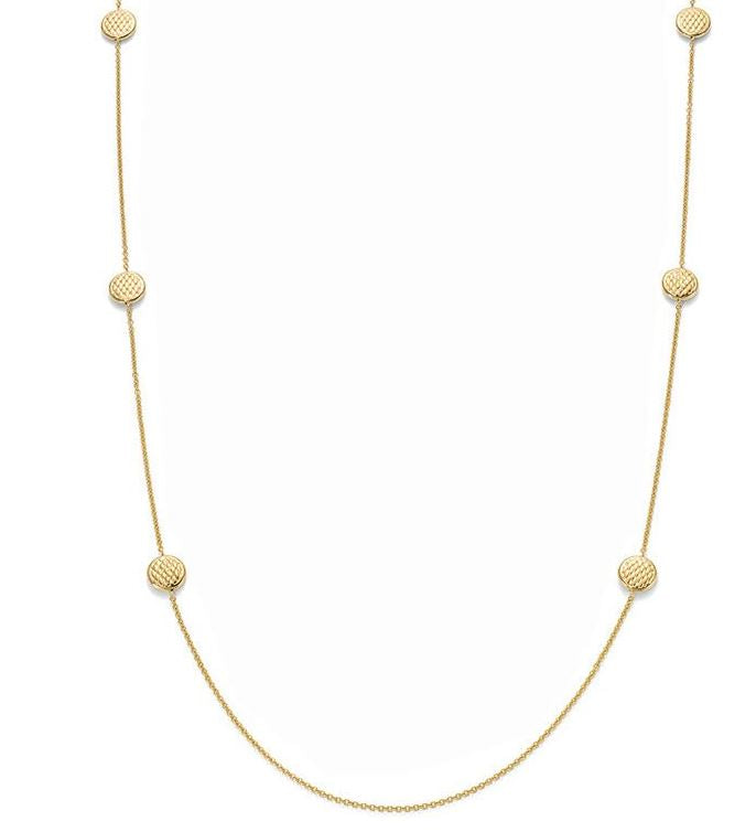 Fope Lovely Daisy 18ct Yellow Gold 90cm Necklace