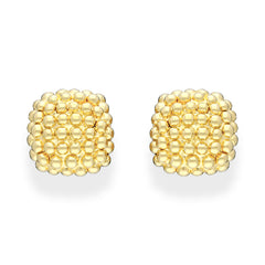 Fope Luci 18ct Yellow Gold Braided Cushion Earrings