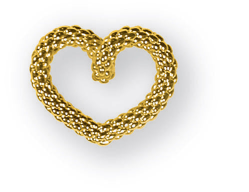 Fope Luci 18ct Yellow Gold Weave Twist Heart Necklace